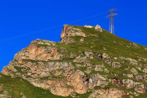 Elettrificazione negli altopiani del caucaso settentrionale in russia.