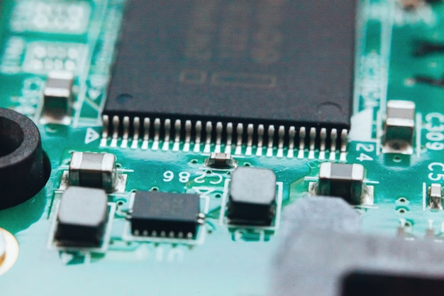 Tecnologia moderna hardware elettronico chip di personal computer digitale della scheda madre
