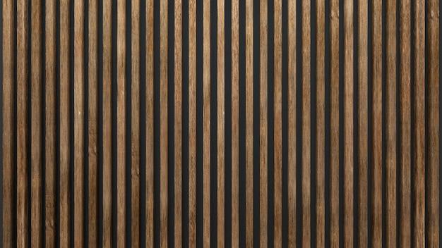 Elegante sfondo di doghe in legno sul muro scuro. fogli di quercia.