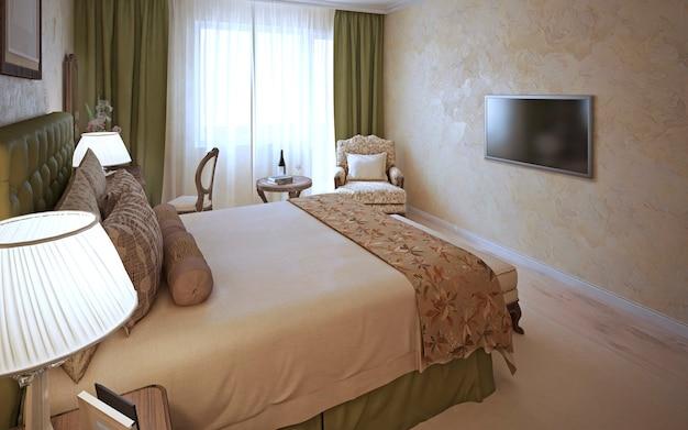 Design classico della camera da letto elegante