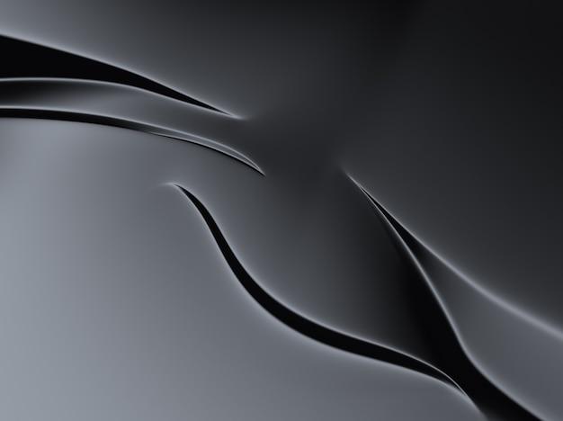 Elegante sfondo nero metallico con linee e forme