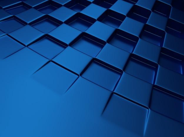 Elegante sfondo blu metallizzato con motivo a scacchi e spazio per il testo