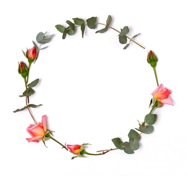 Elegante cornice floreale