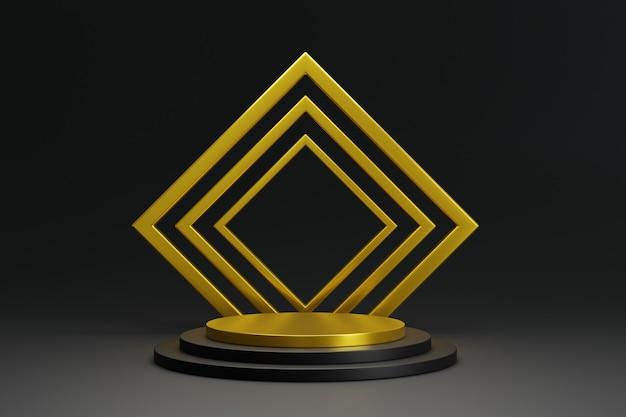 Elegante display da podio con colore nero e oro