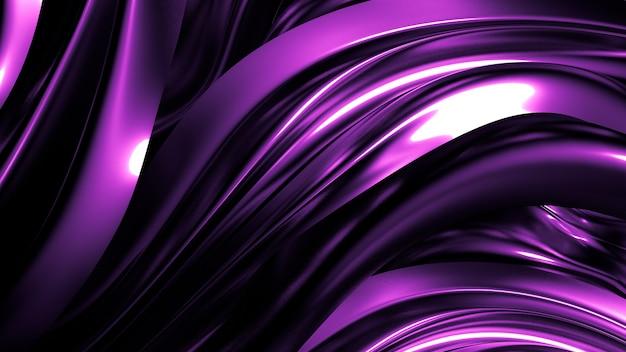 Elegante elegante sfondo viola scuro con pieghe, drappi e volute. illustrazione 3d, rendering 3d.