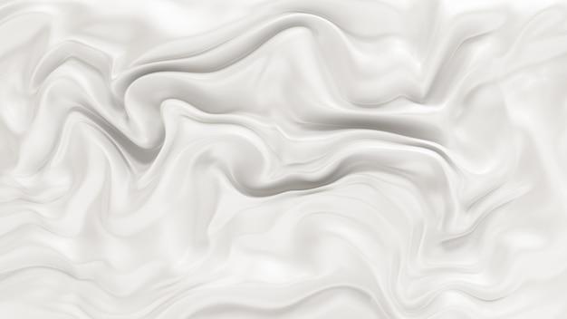 Elegante sfondo bianco con onde fluenti in tessuto. illustrazione 3d