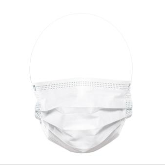 Elemento di design. maschera di protezione per il viso isolata su superficie bianca.
