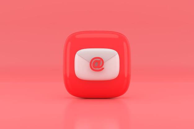 Disegno dell'icona di posta elettronica. rendering 3d.