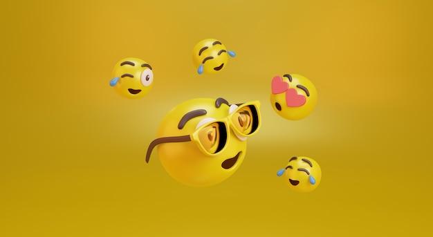 Emoji con varie espressioni. foto premium