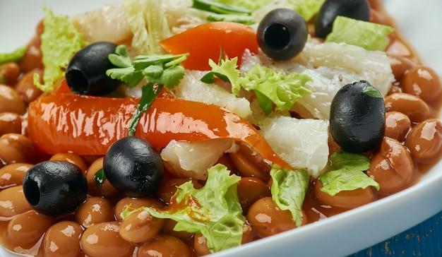 Empedrat - insalata di baccalà alla catalana e fagioli bianchi