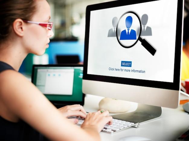 Occupazione carriera lavoro occupazione assunzione concept