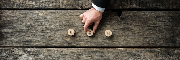 Immagine concettuale di occupazione e risorse umane