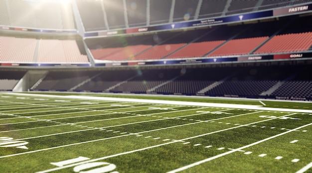 Campo di football americano vuoto