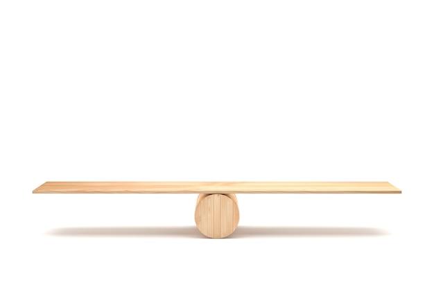 Concetto di equilibrio vuoto su sfondo di whith