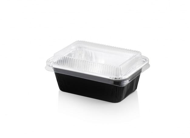 Forno vuoto della scatola nera su fondo bianco isolato