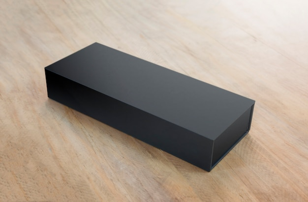 Scatola nera vuota mock up per prodotto