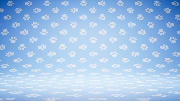 Vuoto vuoto pet footprint symbol pattern studio