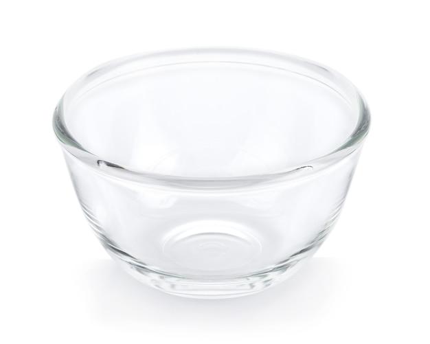 Ciotola vuota su superficie bianca