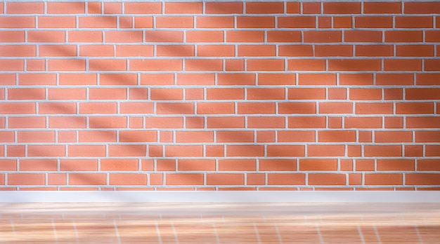Fondo vuoto della stanza del muro di mattoni