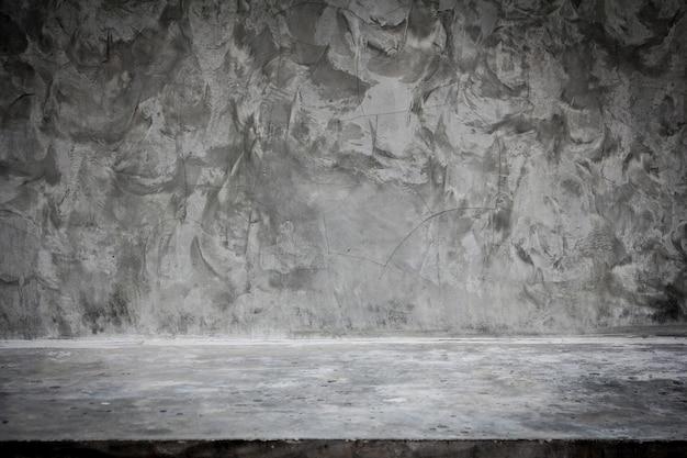 Piano del tavolo in cemento vuoto. utilizzato per esporre o montare i tuoi prodotti