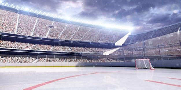 Sfondo di arena hockey vuoto