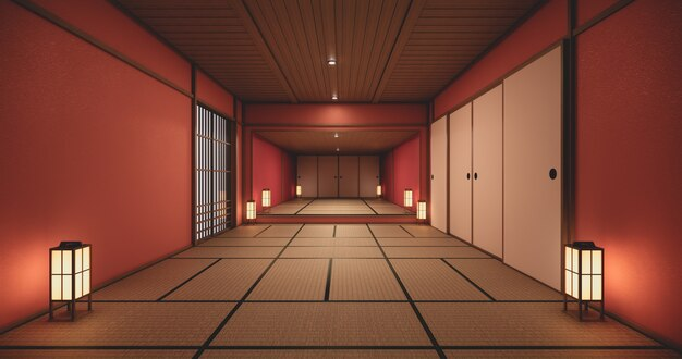 Corridoio della casa vuota con tatami