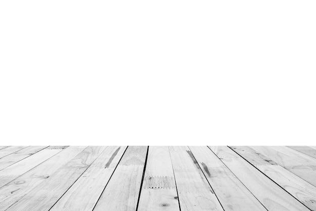 Vuoto in legno chiaro piano d'appoggio isolato su sfondo bianco