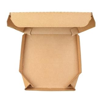 Contenitore per pizza da asporto aperto vuoto