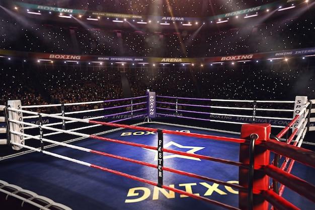 Arena di boxe ring vuoto