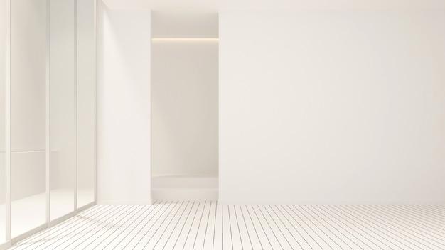 Design della stanza vuota per opere d'arte