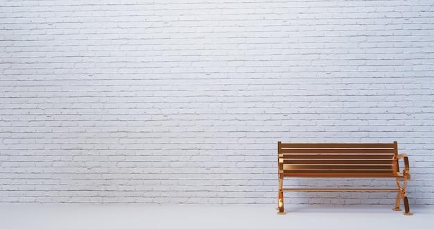 Stanza vuota con sedia rendering 3d interni