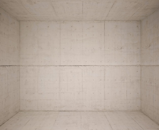 Stanza vuota con lana di cemento