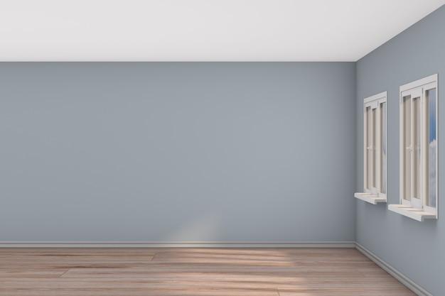 Stanza vuota con finestra. illustrazione 3d