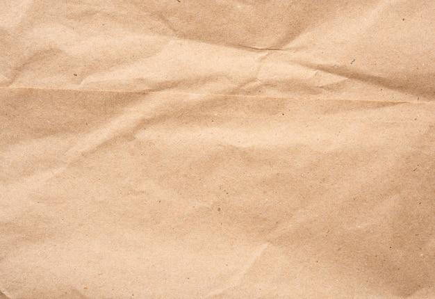 Foglio vuoto di carta kraft da imballaggio marrone, texture vintage per il designer