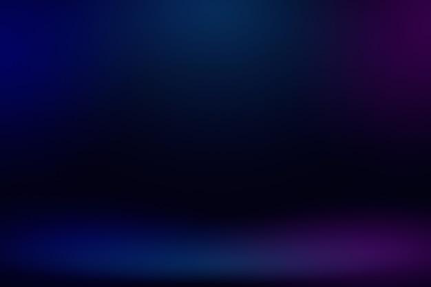 Vuoto sala studio blu scuro rosa viola neon con luce e ombra sfondo astratto.