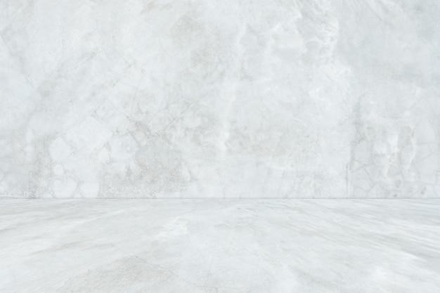 Stanza vuota concreta bianca e fondo del pavimento, stanza concreta di pendenza grigia di prospettiva per fondo interno, contesto
