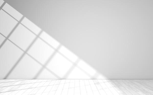 Stanza luminosa bianca vuota. illustrazione 3d