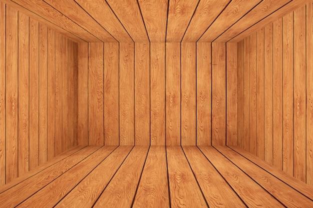 Scatola di legno vuota.
