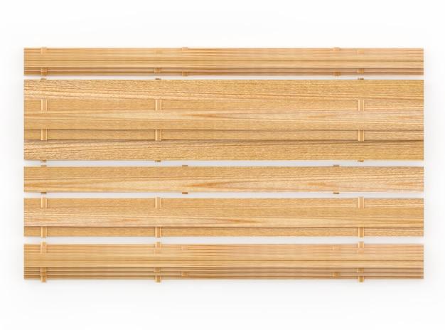 Vista dall'alto di tavole di legno vuote