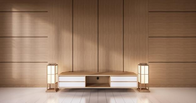 Governo di legno vuoto su stile tropicale della stanza di legno