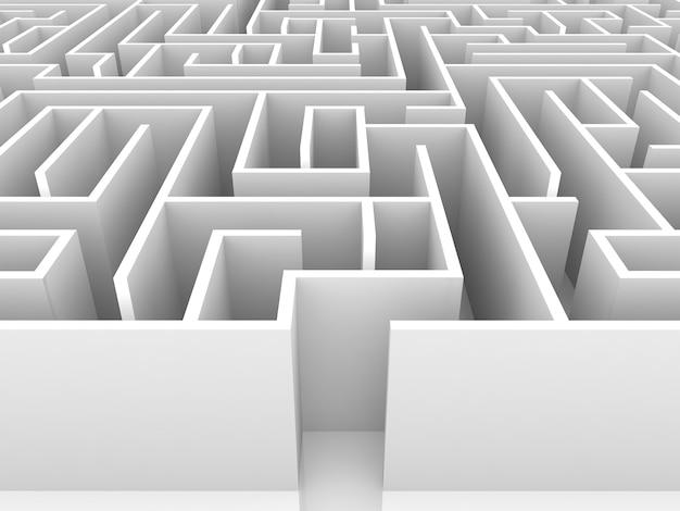 Endless labirinto 3d'illustrazione