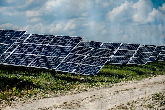 Pannello solare energetico sulla stazione