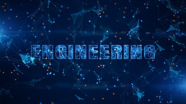 Testo di ingegneria, connessione dati digitali di tecnologia