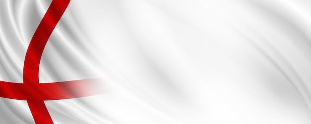 Progettazione dell'insegna della bandiera dell'inghilterra con l'illustrazione 3d dello spazio della copia