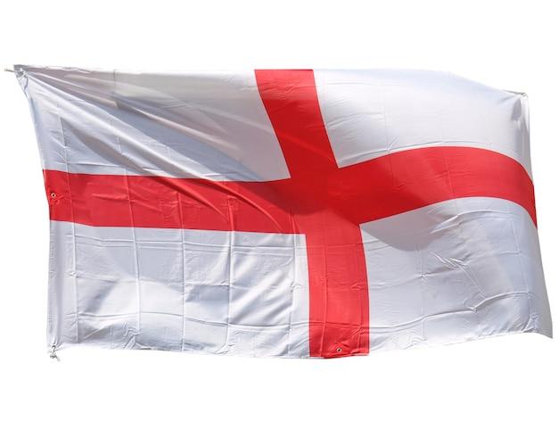 Bandiera dell'inghilterra isolata