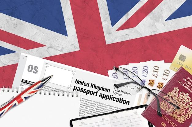 Modulo inglese os domanda di passaporto del regno unito