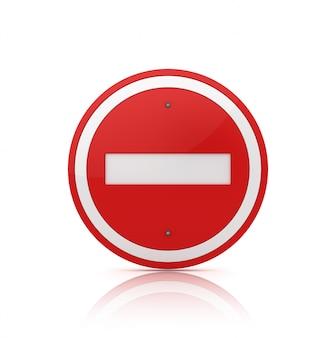 Non inserire il cartello stradale