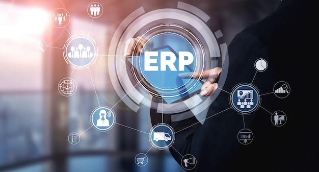 Sistema software erp enterprise resource management per piano risorse aziendali