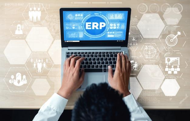 Sistema software erp per la gestione delle risorse aziendali per il piano delle risorse aziendali