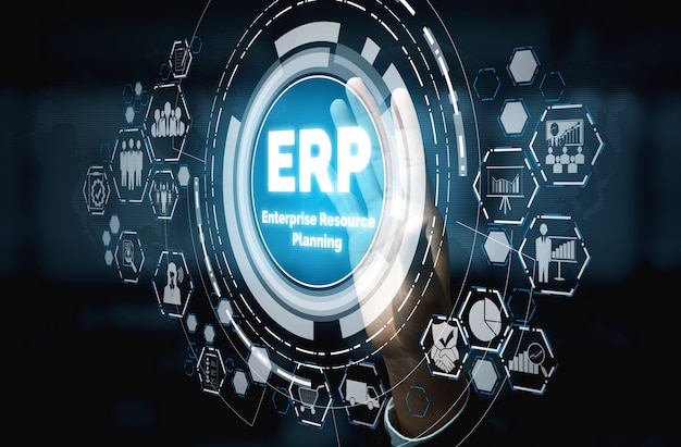 Sistema software erp enterprise resource management per piano di risorse aziendali
